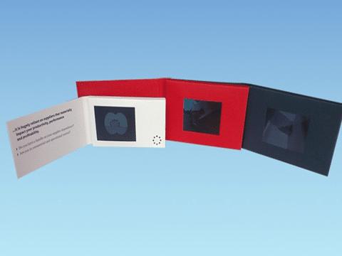 """Højkvalitets 2,4"""" LCD skærm, Business Video Visitkort"""
