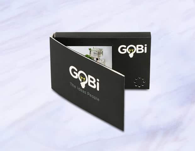 """Business Video Visitkort 2,4"""" LCD skærm"""