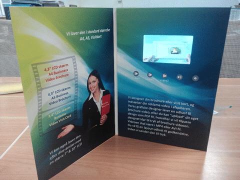 "Brochure Videocard A4 4,3"""