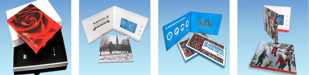 """Højkvalitets 4,3"""" LCD skærm, Business Video Brochure"""