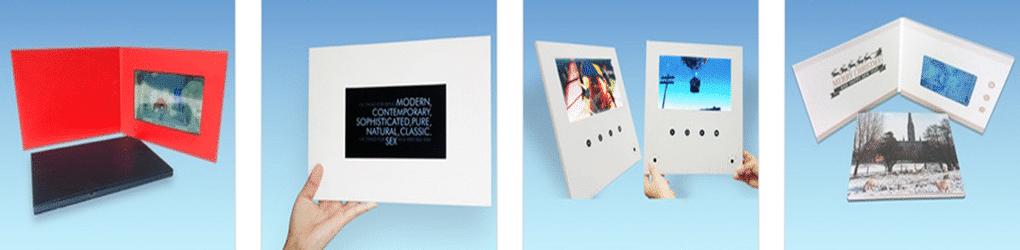 """Højkvalitets 7"""" LCD skærm, Business Video Brochure"""
